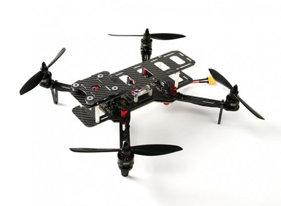 DYS 320 fibra di vetro pieghevole Quadcopter con il caso di bagagli (PNF)