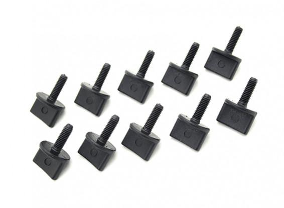 Viti Nylon pollice M4 x 12mm Nero (10pc)