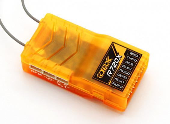 OrangeRx R720X 7ch 2,4 GHz DSM2 / DSMX compatibile Full Range Rx w / Sat Div Antenna, fail-safe e S.Bus