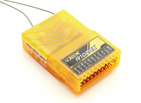 OrangeRx R1020X 10CH 2.4GHz DSM2 / DSMX CompFullRangeRx w / SatDivAnt, F / S & S.BUS
