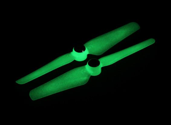 5 x 3.2 Autofissante Elica per Multi-rotore CW e CCW di rotazione (1 coppia) Glow In The Dark