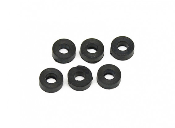 Assault 100 Flybarless Elicottero Ricambio Head Damper Gomme (6pcs)