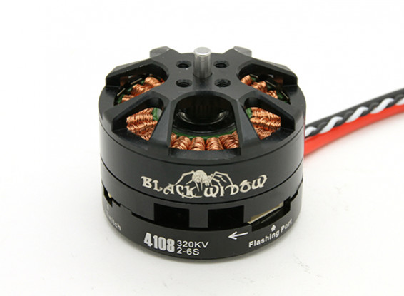 Black Widow 4108-320Kv con built-in ESC CW / CCW