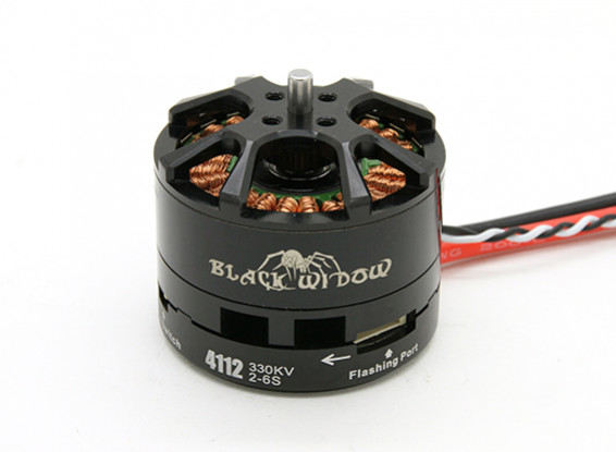 Black Widow 4112-320Kv con built-in ESC CW / CCW