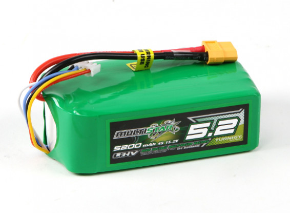 Multistar LiHV High Capacity 5200mAh 4S 10C Multi-Rotor Lipo Pack