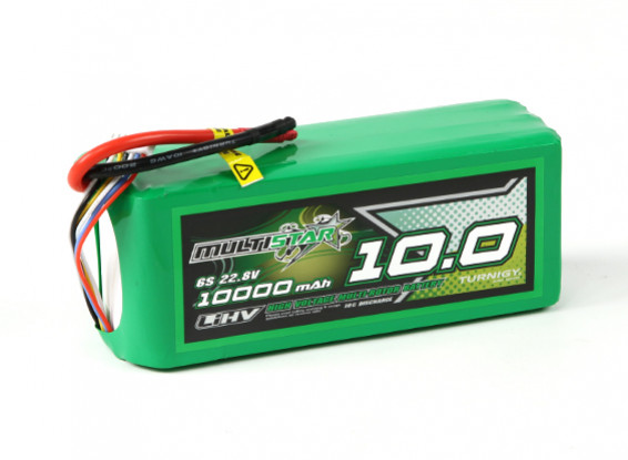 MultiStar LiHV High Capacity 10000mAh 6S 10C Multi-Rotor Lipo Pack