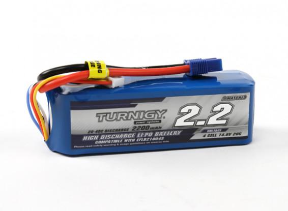 Turnigy 2200mAh 4S 20C LiPoly pacchetto w / CE3 (E-Flite Compatible)