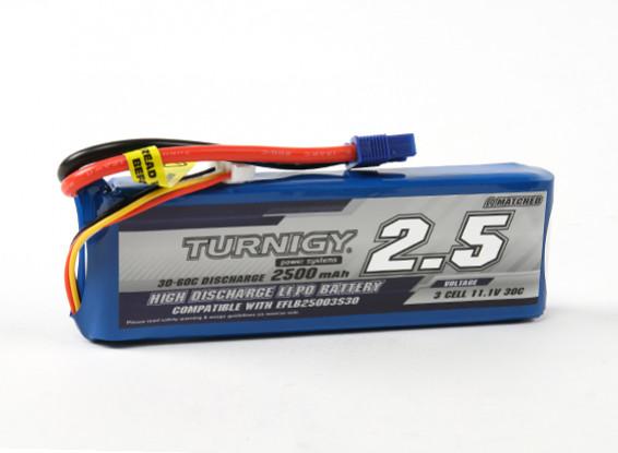 Turnigy 2500mAh 3S 30C LiPoly pacchetto w / CE3 (E-Flite EFLB25003S30 Compatible)
