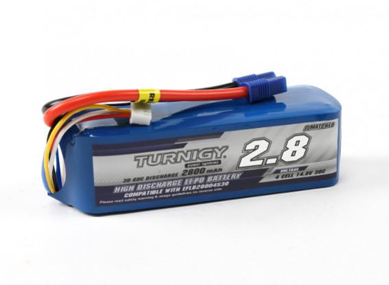 Turnigy 2800mAh 4S 30C LiPoly pacchetto w / CE3 (E-Flite EFLB28004S30 Compatible)
