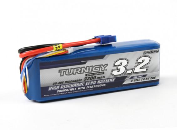 Turnigy 3200mAh 4S 20C LiPoly pacchetto w / CE3 (E-Flite compatibile EFLB32004S)