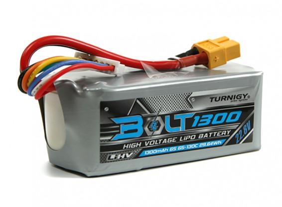 Turnigy Bolt 1300mAh 22.8V 6S 65 ~ 130C High Voltage Lipoly Pack (LiHV)