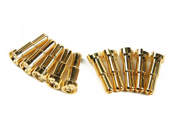 4-5mm universale Maschio placcato oro primavera connettore - Low Profile (10pcs)