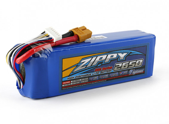 ZIPPY Flightmax 2650mAh 6S1P 30C