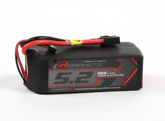 Turnigy grafene professionale 5200mAh 3S 15C LiPo pacchetto w / XT60