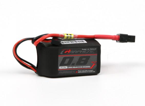 Turnigy grafene 800mAh 3S 45C Lipo del pacchetto w / XT60