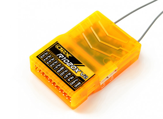 OrangeRx R1020X V2 10Ch 2.4GHz DSM2/DSMX Compatibilty Full Range Rx w/Div Ant, F/Safe & CPPM