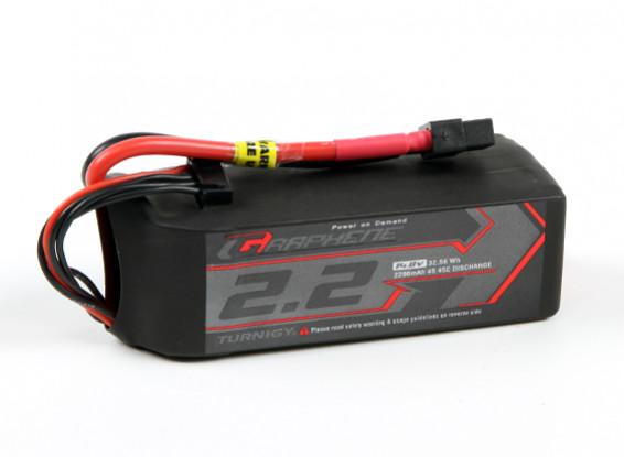 Turnigy grafene 2200mAh 4S 45C Lipo del pacchetto w / XT60