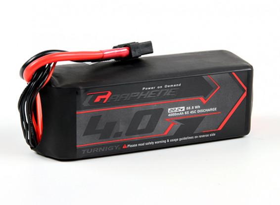 Turnigy grafene 4000mAh 6S 45C Lipo del pacchetto w / XT90