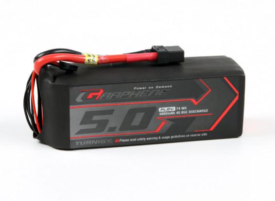 Turnigy grafene 5000mAh 4S 65C Lipo del pacchetto w / XT90