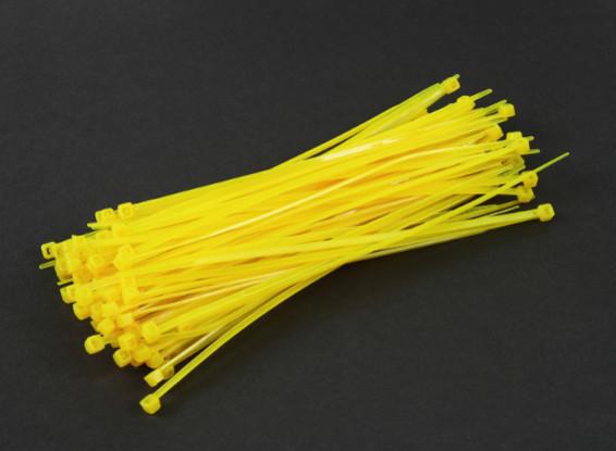 Fascette 150 millimetri x 3 mm gialli (100pcs)