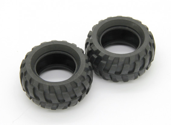 Pneumatici (2 pezzi) - Basher Rocksta 1/24 4WS Mini Rock Crawler