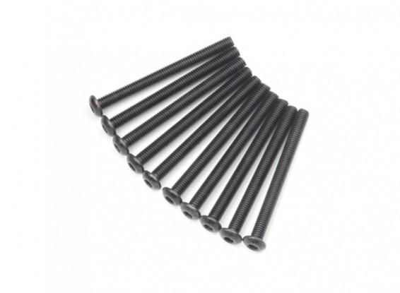 Metallo rotonda Machine Head Vite Esagonale M3x34-10pcs / set