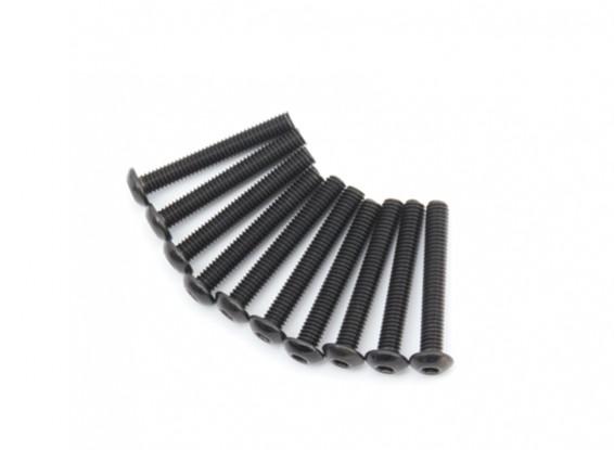 Metallo rotonda Machine Head Vite Esagonale M4x28-10pcs / set
