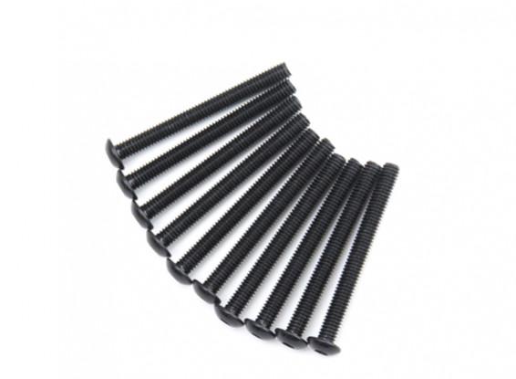 Metallo rotonda Machine Head Vite Esagonale M4x40-10pcs / set
