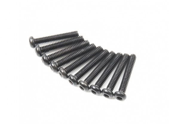 Metallo rotonda Machine Head Vite Esagonale M2x12-10pcs / set