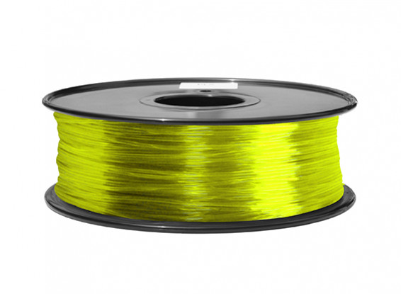 HobbyKing 3D Printer Filament 1.75mm ABS 1KG Spool (Translucent Yellow)