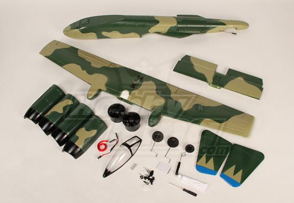 A-10 Warthog da caccia w / Twin 50 millimetri EDF (ARF)