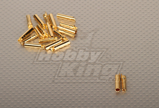Polymax 4mm oro connettori (10pairs / set)