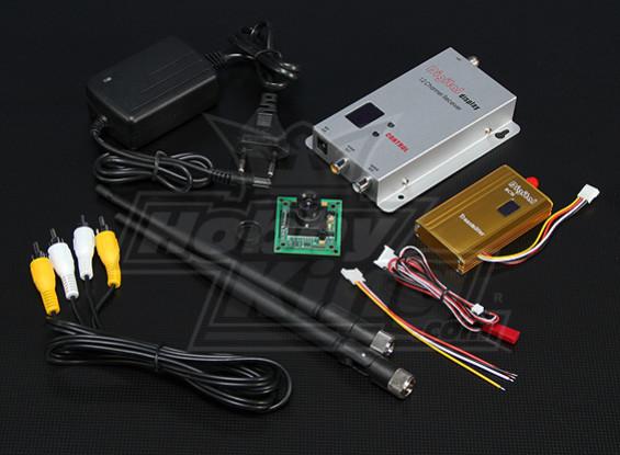 900MHZ 1500mW Tx / Rx & Camera CCD da 1/3-inch NTSC 520TVL