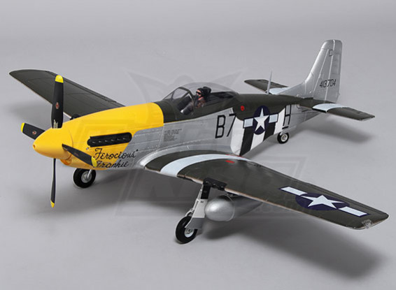 Durafly ™ P-51D Mustang w / flaps / ritrae / luci 1.100 millimetri (PNF)