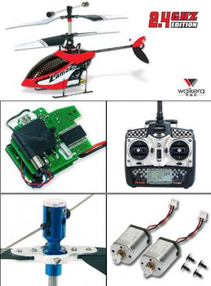 Walkera Lama2-1 coassiale Heli w / trasmettitore della testa del metallo e 2,4 GHz a 2402