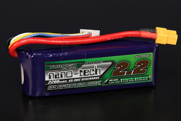 Turnigy nano-tech 2200mah 4S 45 ~ 90C Lipo Confezione