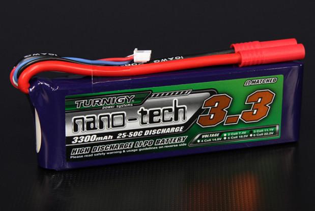 Turnigy nano-tech 3300mAh 3S 25 ~ 50C Lipo Confezione