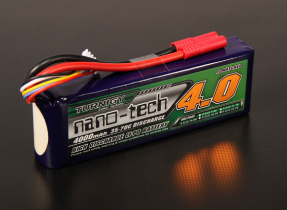Turnigy nano-tech 4000mah 4S 35 ~ 70C Lipo Pack (Adatto Hirobo Lepton EX, HIR)