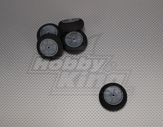 Gomma piuma della luce della rotella Diam: 50, Larghezza: 18,5 millimetri (5pcs / bag)