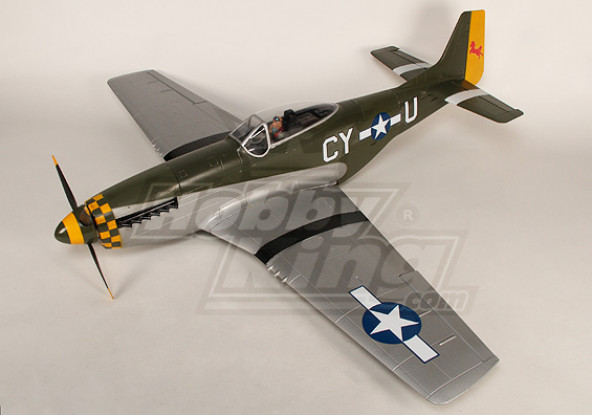P-51D Mustang Mostro 1.55m 6Ch XL-EPO - 61inch PNF (verde)