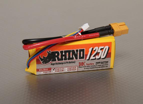Rhino 1250mAh 3S 11.1V 30C Lipoly Confezione
