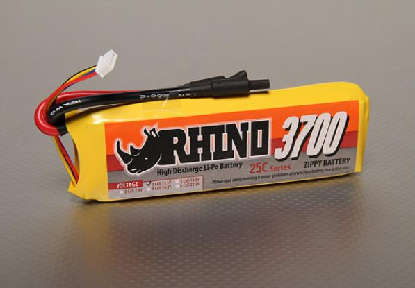 Rhino 3700mAh 3S 11.1v 25C Lipoly Confezione