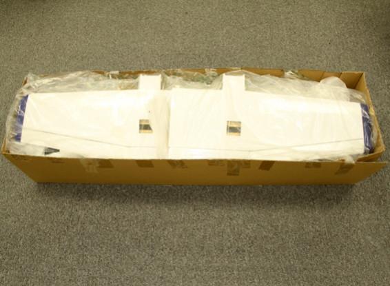 SCRATCH / DENT - 421 Composite Doppia Light Aircraft 1.800 millimetri w / flap (Glow - ARF)