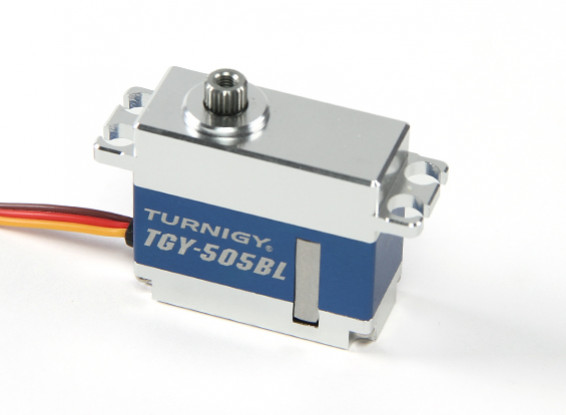SCRATCH / DENT - Turnigy TGY-505BL HV digitale metallo Cased Brushless Servo 40g / 6.2kg / 0.08sec