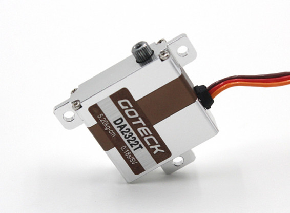 SCRATCH / DENT - Goteck DA2321T digitale MG metallo Cased Ala Servo 23g / 5.2kg / 0.12sec