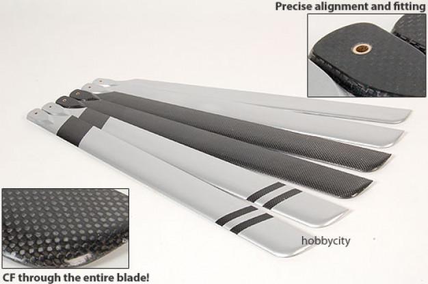 Fibra di carbonio completa 600 lame di dimensioni (600 x 55mm)