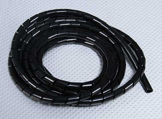 involucro a spirale ID tubo 7 millimetri / OD 8mm (nero - 2m)