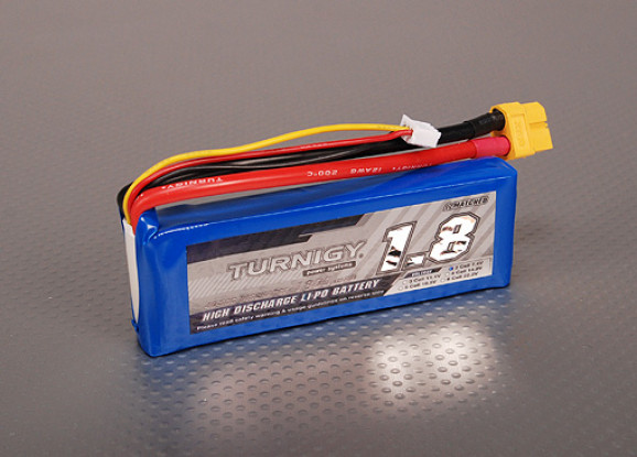Turnigy 1800mAh 2S 40C Lipo Confezione