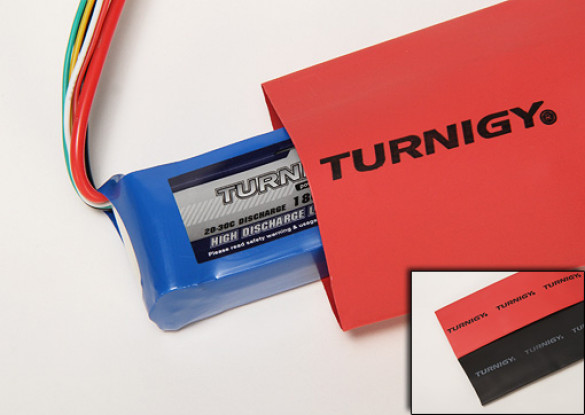 Turnigy termorestringenti tubo 50 millimetri NERO (1mtr)