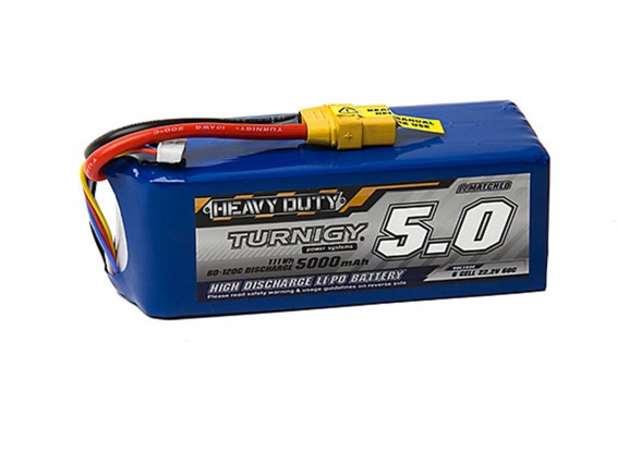 Turnigy-Heavy-Duty-5000mAh-6S-60C-Lipo-Pack-w-XT-90-Battery-9067000243-0